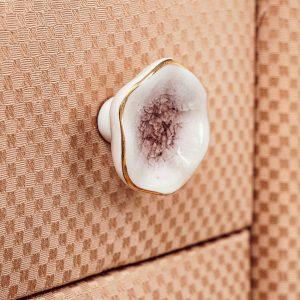 agate rózsaszín kerámia bútorgomb